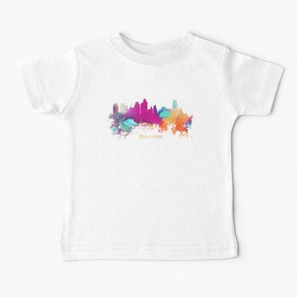 Minneapolis Skyline City watercolor Baby T-Shirt