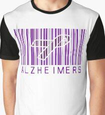 Bar Code Ribbon Alzheimers Awareness Graphic T-Shirt