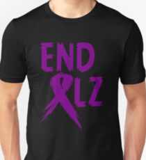 END ALZ Ribbon Alzheimers Awareness Unisex T-Shirt