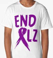 END ALZ Ribbon Alzheimers Awareness Long T-Shirt