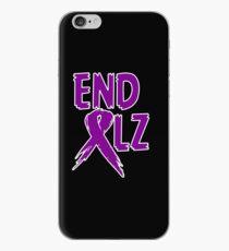 END ALZ Ribbon Alzheimers Awareness iPhone Case