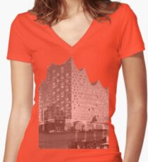 Elbphilharmonie Double Women's Fitted V-Neck T-Shirt