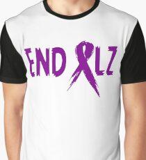 END ALZ Ribbon Alzheimers Awareness Graphic T-Shirt