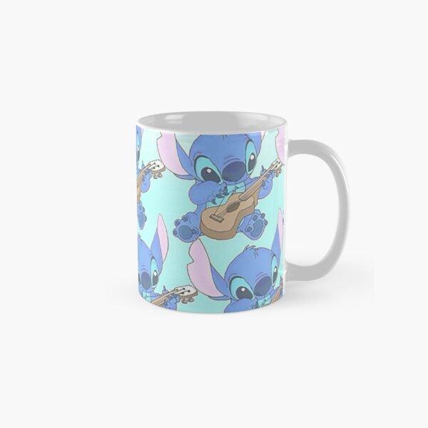 Stitch on his Guitar pattern Classic Mug