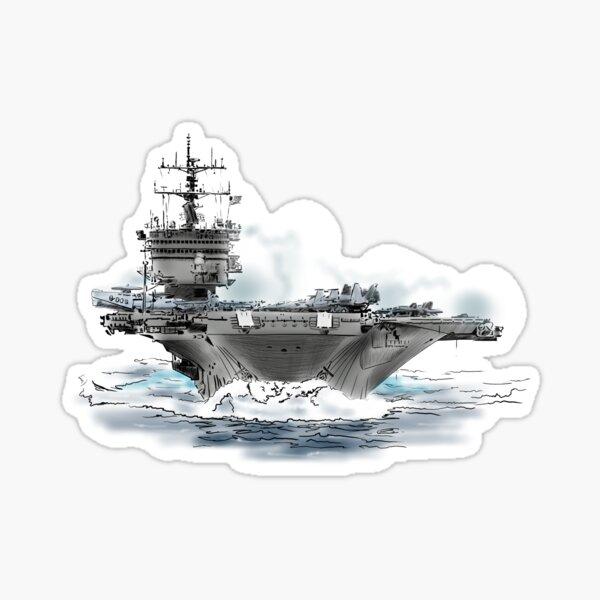 aircraft carrier Sticker