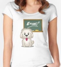 Maths Equation Einstein Shitsiu dog tshirt - Dog Gifts for Shihtzu and Maltese Dog Lovers Women's Fitted Scoop T-Shirt