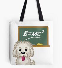 Maths Equation Einstein Shitsiu dog tshirt - Dog Gifts for Shihtzu and Maltese Dog Lovers Tote Bag