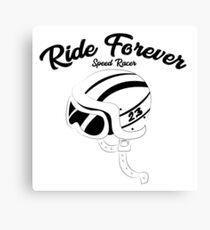 Retro motorcycle helmet Canvas Print