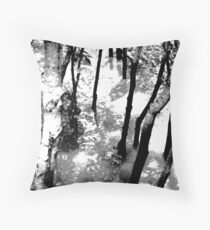 Gloom trees Throw Pillow
