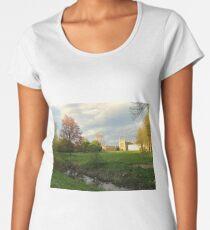 King's college Cambridge at sunset Women's Premium T-Shirt