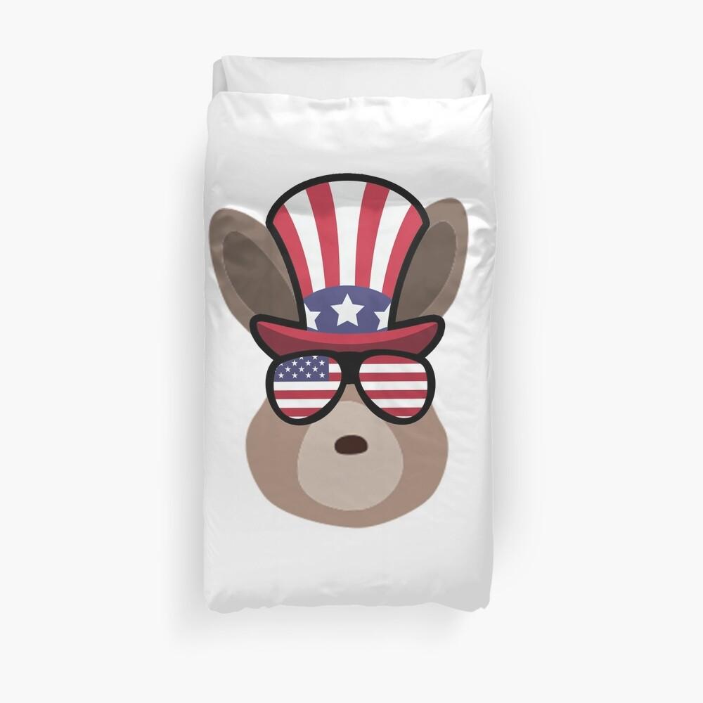 Rabbit Happy 4th Of July Funda nórdica