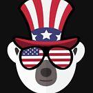 «Polar Bear Happy 4th Of July» de GoOsiris