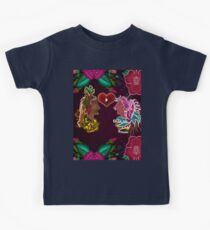 Red and Pink Flower Kids Tee