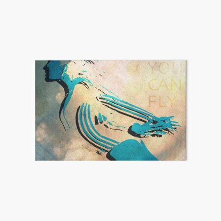 Gymnast Silhouette, Gymnastics Artwork Art Board Print