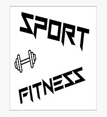 sport and fitness lovers  Photographic Print