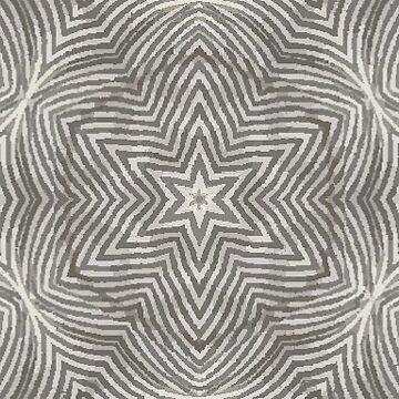 Gray and White Stripes Geometric Pattern by karmcg