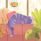 Afternoon Cat Nap by Minette Wasserman