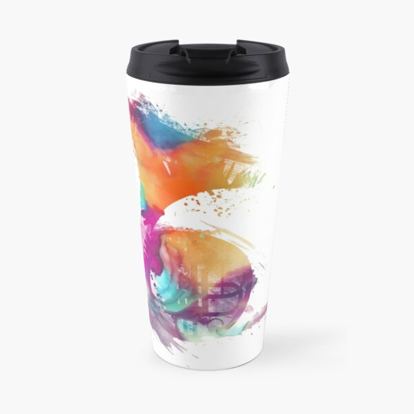 French horn colored musical instruments Travel Mug
