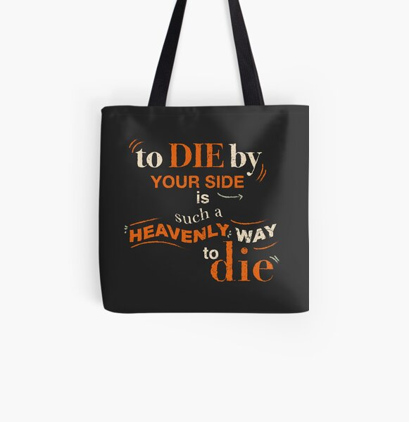 To Die By Your Side, The Smiths lyrics, Typography All Over Print Tote Bag