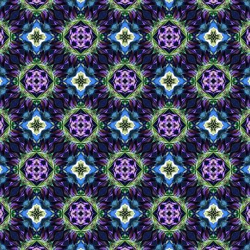Purple Floral Geometric Design by karmcg