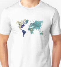 World map wind rose T-Shirt