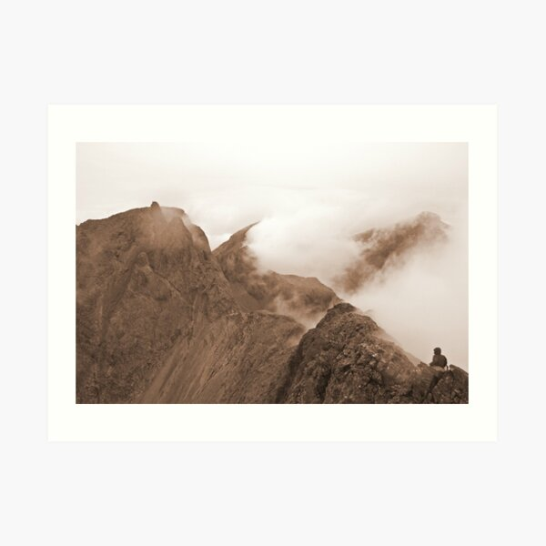 From Sgurr Mhic Choinnich Back to The Inaccessible Pinnacle, Skye Art Print