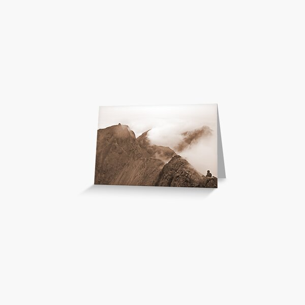 From Sgurr Mhic Choinnich Back to The Inaccessible Pinnacle, Skye Greeting Card