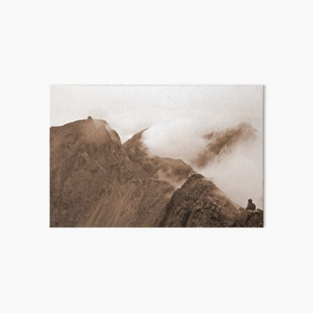 From Sgurr Mhic Choinnich Back to The Inaccessible Pinnacle, Skye Art Board Print