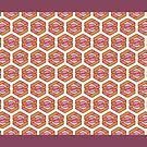 Paradox Loop Hex S Pattern Stencil Straight Up RD by palmprints