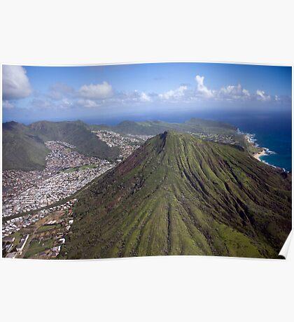 Aerial of Oahu, Hawaii Poster