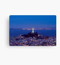 Coit Tower at Dusk, San Francisco, California Canvas Print