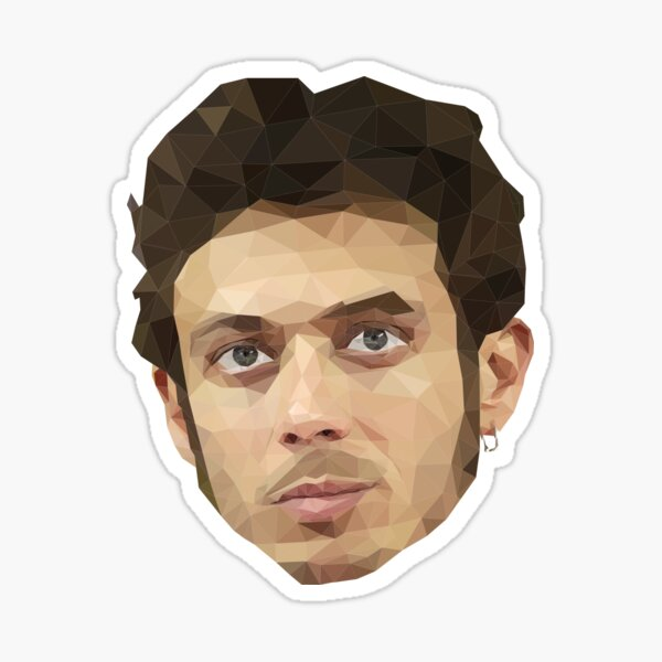 Valentino Rossi art low poly Sticker
