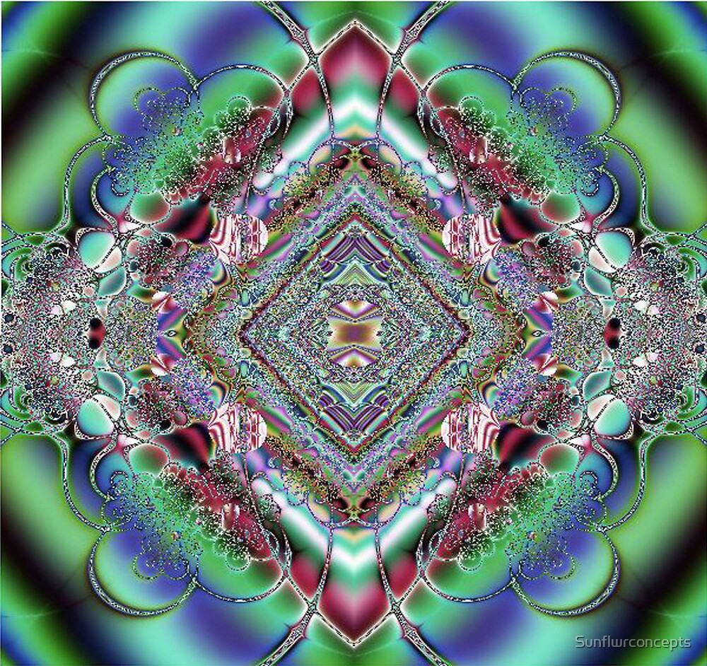 Diamond Fractal Artwork by Sunflwrconcepts