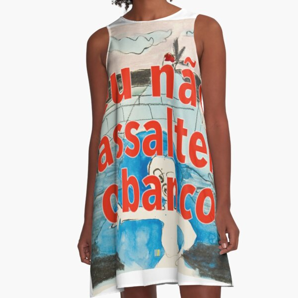 Bank assault art project A-Line Dress