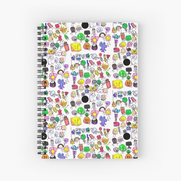 Bfb characters Spiral Notebook