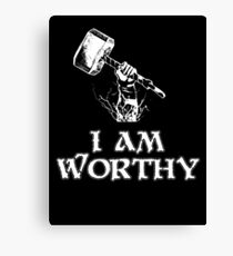 I am worthy Canvas Print