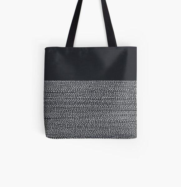 Riverside Black All Over Print Tote Bag
