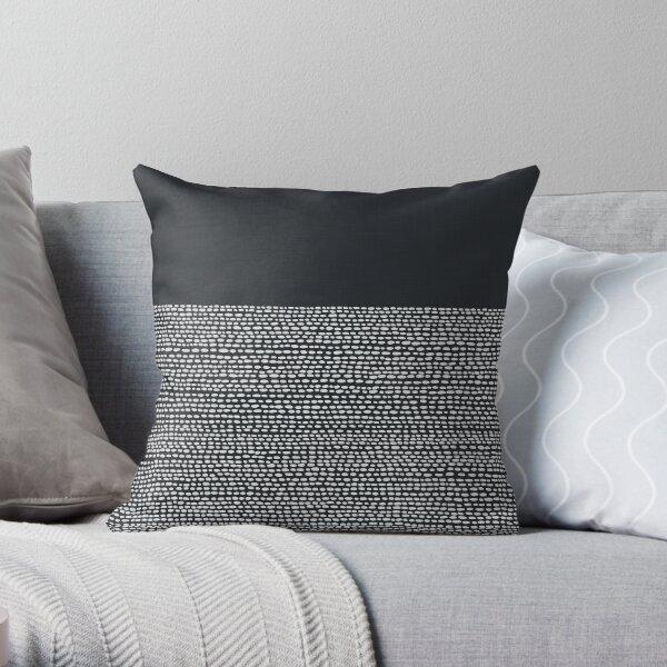 Riverside Black Throw Pillow