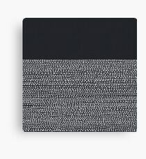 Riverside Black Canvas Print