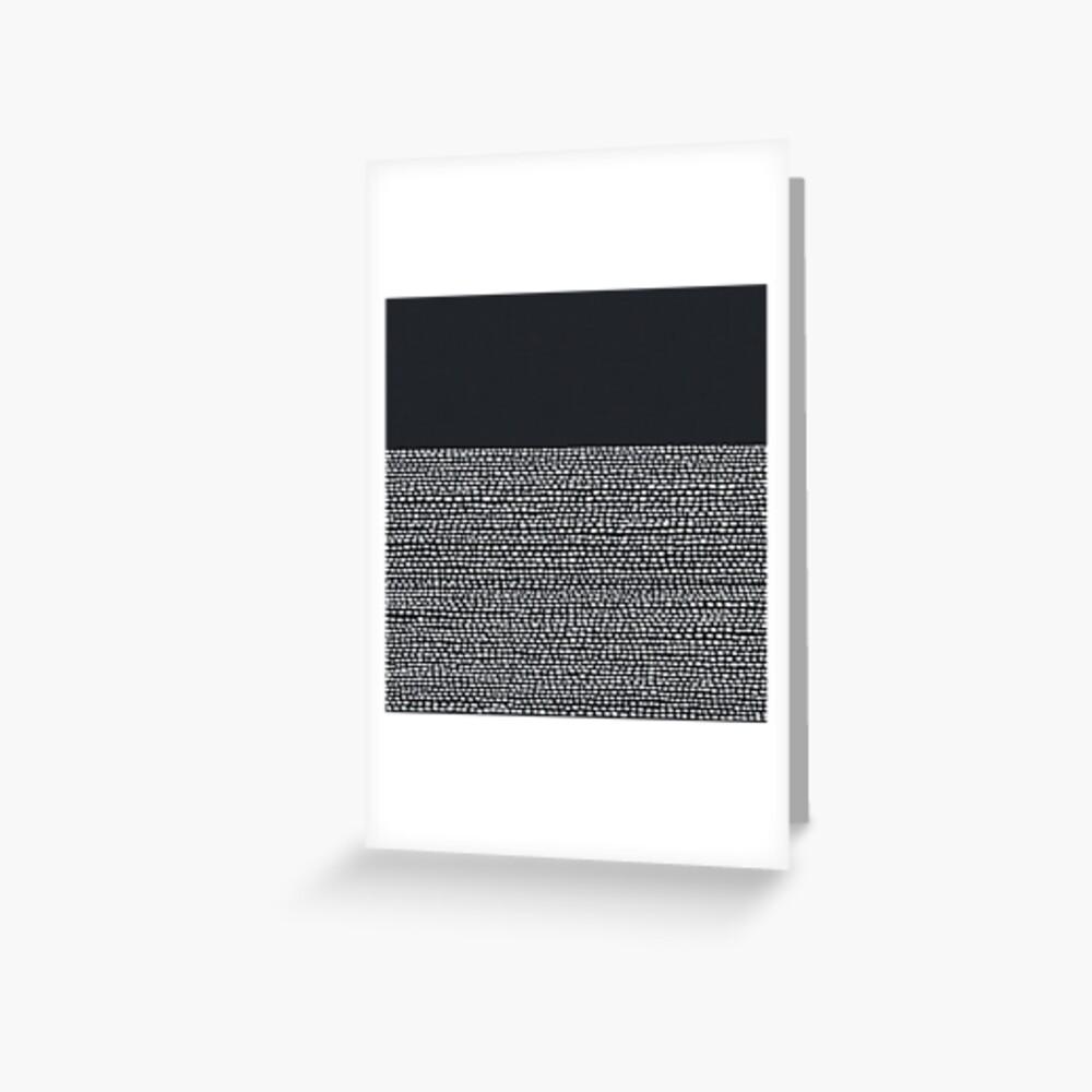 Riverside Black Grußkarte