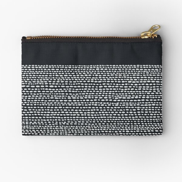 Riverside Black Zipper Pouch