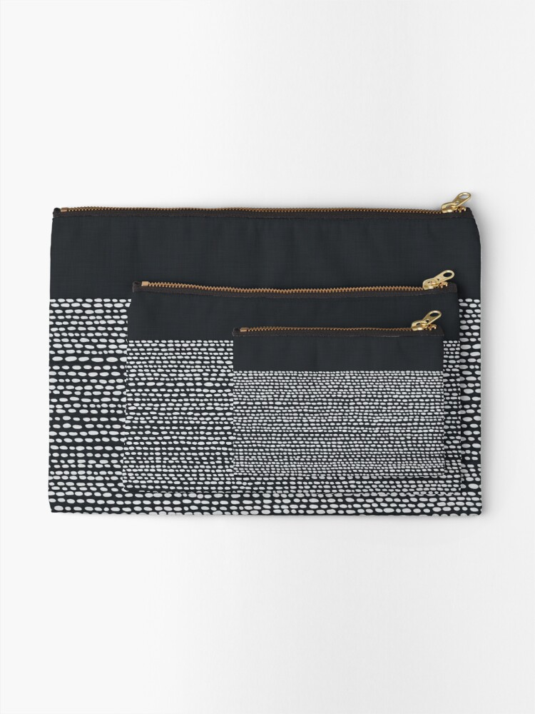 Alternate view of Riverside Black Zipper Pouch