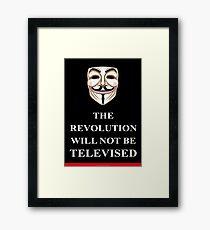The Revolution will not V for Vendetta Framed Print