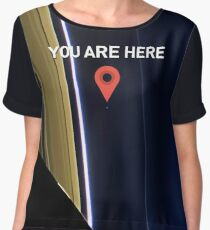 You are here - Pale Blue Dot Chiffon Top