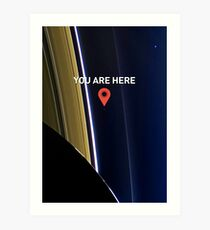 You are here - Pale Blue Dot Art Print