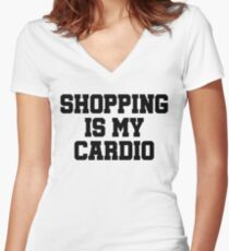 Shopping Shirt. Cardio Shirt. Shopping Is My Cardio Tank Top. Soft & Comfy, Long, Flowy, Racerback Tank Top. Funny Tank. Workout Clothes Women's Fitted V-Neck T-Shirt