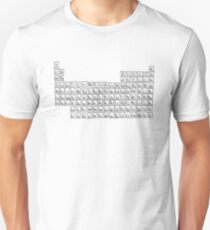 Unique Hand-Drawn Periodic Table Of Elements Unisex T-Shirt