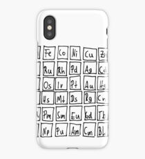 Unique Hand-Drawn Periodic Table Of Elements iPhone Case