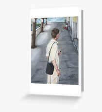 THE AMERICAN TOURIST/Oil on canvas Greeting Card