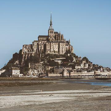 Mont Saint Michel abbey by dvoevnore